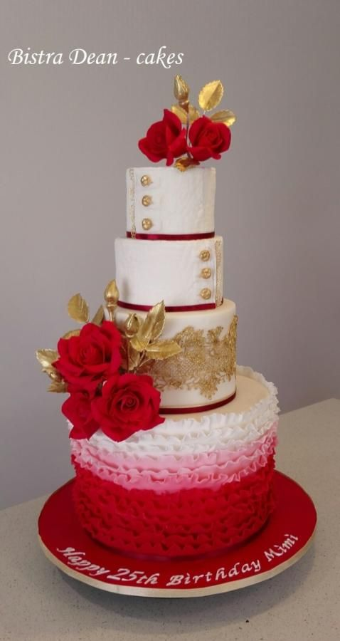 red and gold wedding cake pictures 48 best wedding cakes images on conch 19079