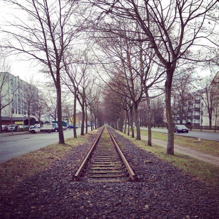 Endstation Neu-Isenburg. Die Gleise enden hier.