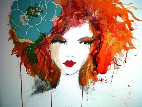 portrait of a red head.