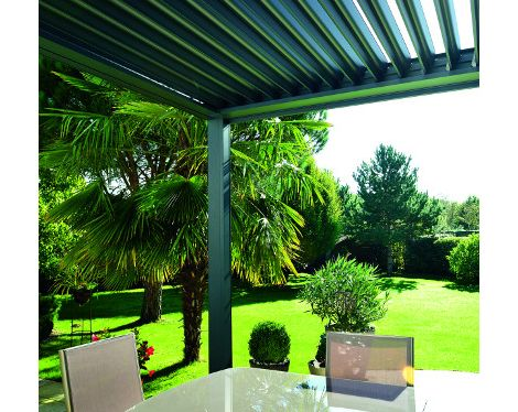 zoom pergola lames installer une pergola pinterest pergolas. Black Bedroom Furniture Sets. Home Design Ideas