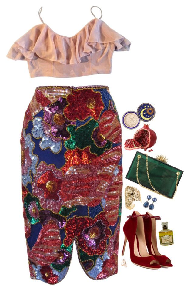 """Nikolai Rimsky-Korsakov"" by bansheebeat ❤ liked on Polyvore featuring Kimchi Blue, Tom Ford, Gianvito Rossi, Charlotte Olympia, DANNIJO, H&M, Jacquie Aiche and i Profumi di Firenze"