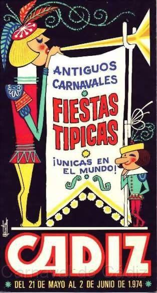 Cartel Carnaval de Cadiz año 1974