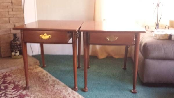 Willett Furniture..Counryside cherry endtables, drawers ...