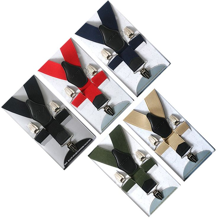 New Faux Leather Elastic Suspenders Wide Suit Office Adjustable Clip-On Braces #springsummerfallwinter