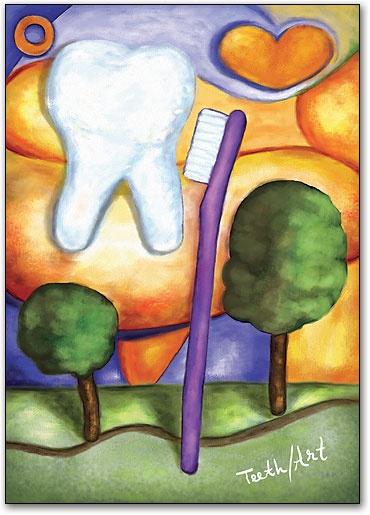 Teeth Art Tooth Brush Postcard by SmartPractice