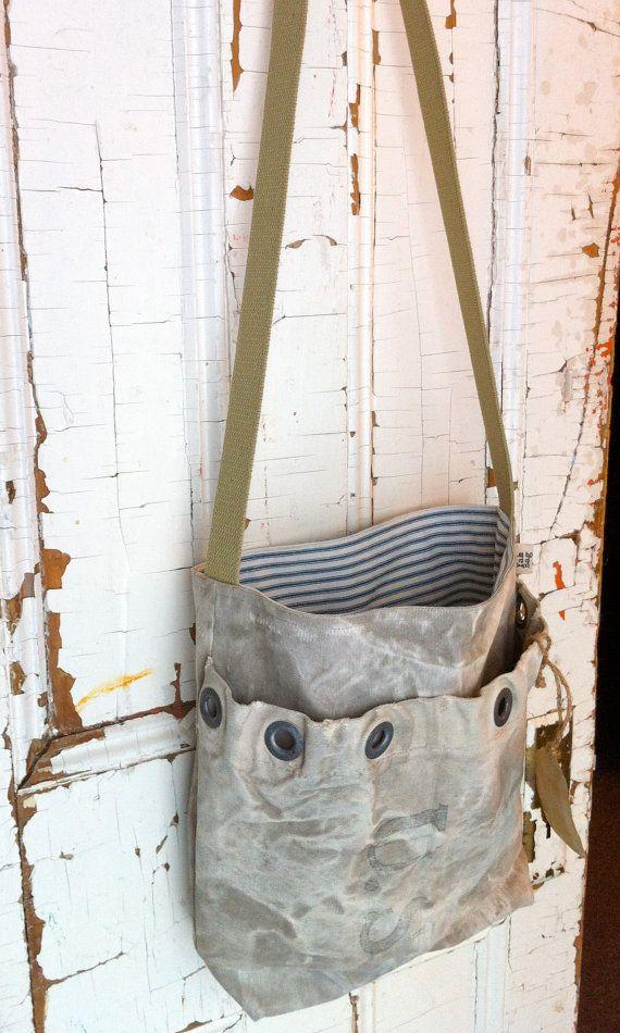 MAIL  reconstructed vintage u.s.a. post messenger bag by yahbag, $180.00