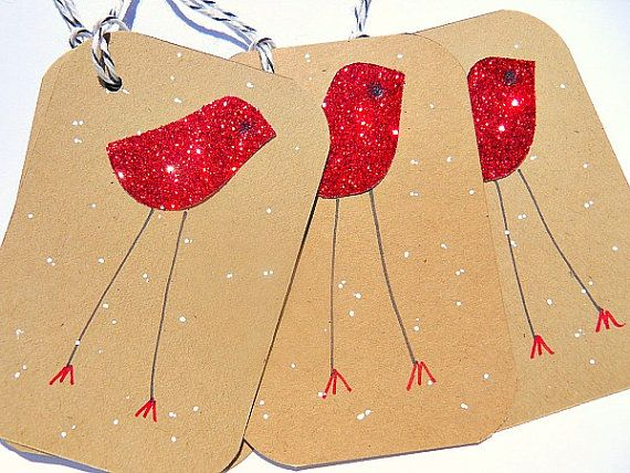 Christmas Tags  Christmas Gift Tags  Kraft Paper by suziescards, $7.00