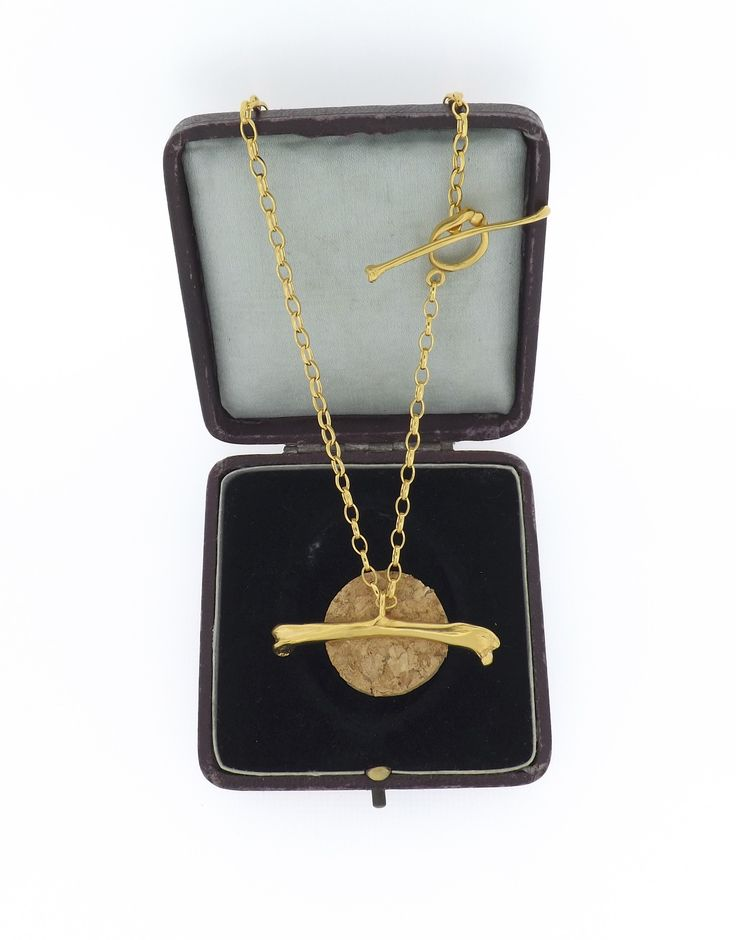 The Magpie Bone Necklace in Gold Vermeil