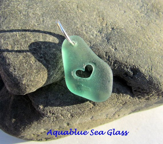 1052 best drilled sea glass sea glass supplies images on pinterest drilled sea glass pendant heart carved rare by aquablueseaglass 1599 aloadofball