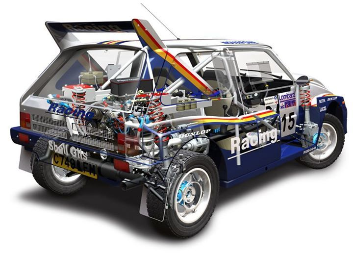 MG Metro 6R4 rally car - cutaway
