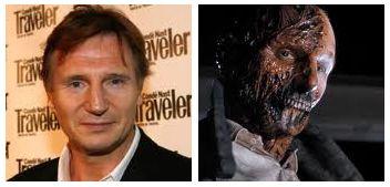 Character: Peyton Westlake a.k.a. Darkman,  Movie: Darkman,  Year: 1990,  Portrayed by: Liam Neeson,  Make-up by: Tony Gardner.