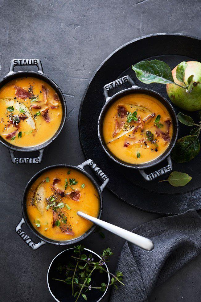 Butternut Squash Soup with Crispy Prosciutto | Williams Sonoma Taste