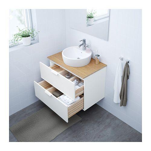 trnviken meuble lavabo av lavabo poser bambou blanc