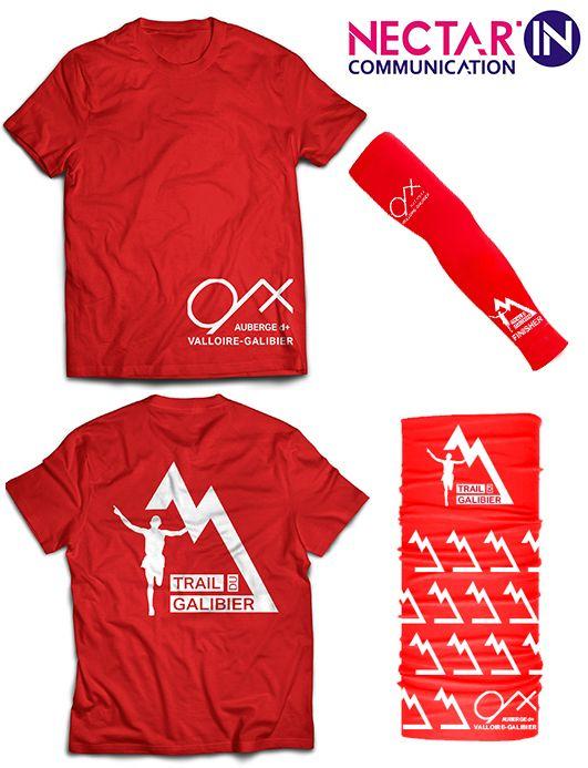 Création du logo pour le trail du galibier et de la ligne de vêtement.