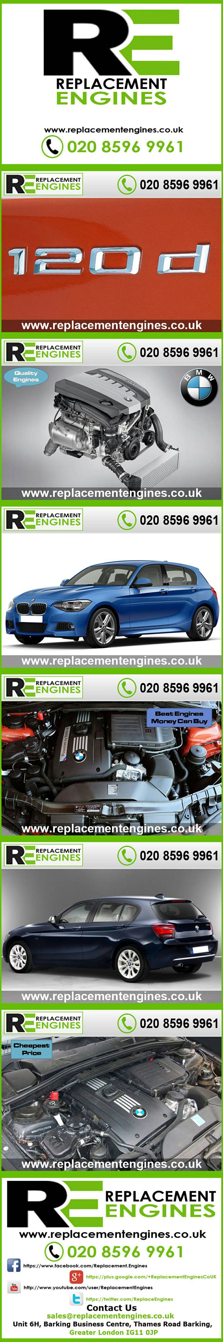 BMW 120d engines for sale at the cheapest prices, we have low mileage used & reconditioned engines in stock now, ready to be delivered to anywhere in the UK or overseas, visit Replacement Engines website here.