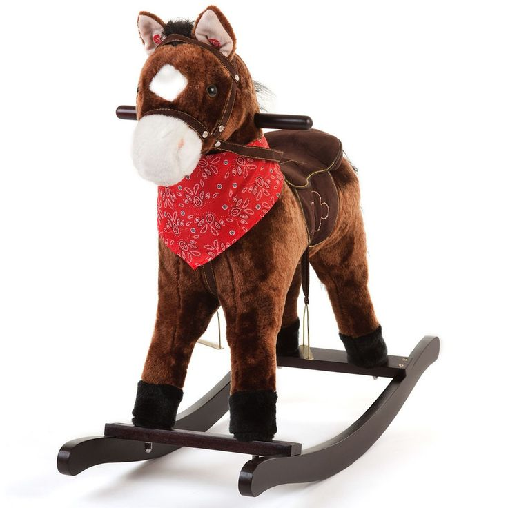 Tigris Wholesale Kids' Dark Brown Wooden Toy Rocking Horse - Availability: in stock - Price: £44.99 http://chillax4u.com/products/tigris-wholesale-kids-dark-brown-wooden-toy-rocking-horse
