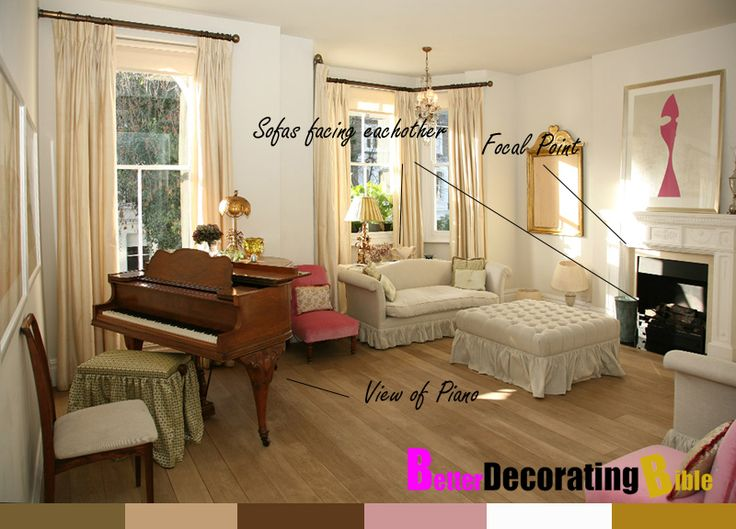How To Arrange Living Room With Piano And Fireplace