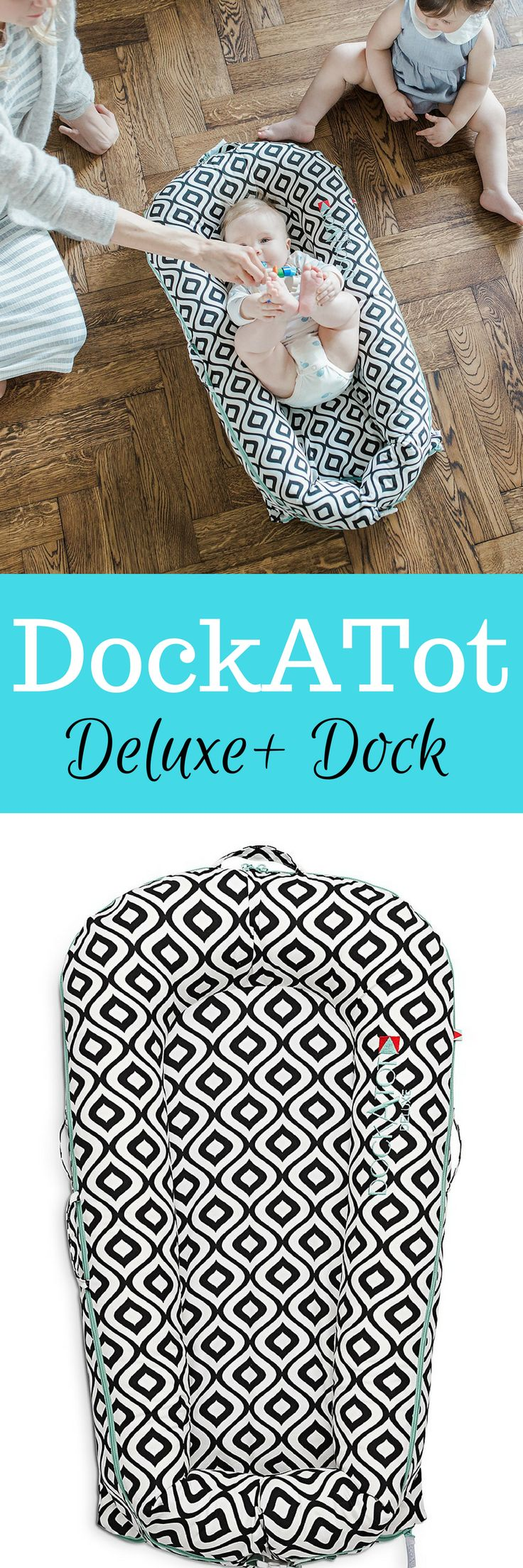 The DockATot Deluxe+ Dock is a snug spot for napping, tummy time, diaper changes and more. Its portable, unique design means peaceful, sweet dreams for the little one and quiet time for you, wherever you are. #affiliate #baby #cosleep