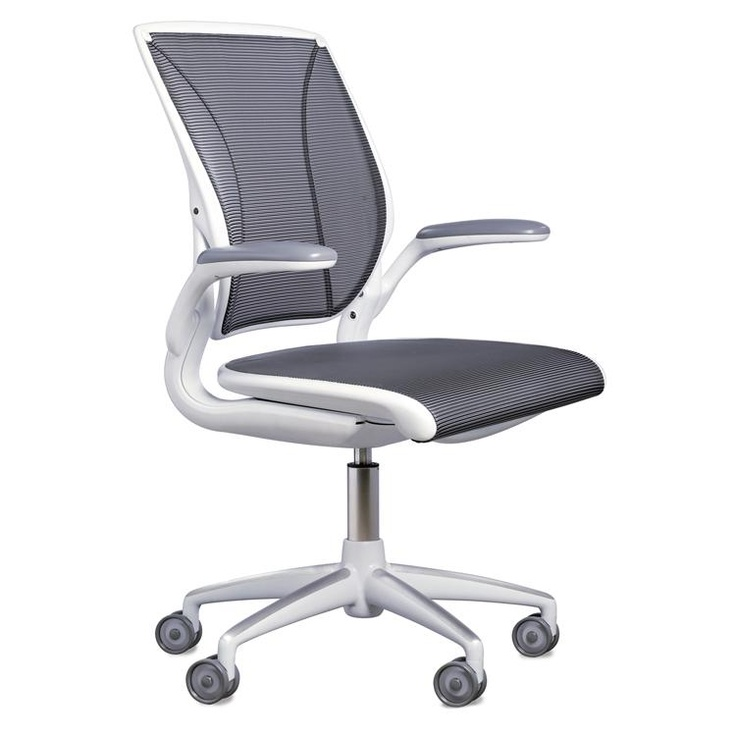 shown white diffrient task frame chair world seat front with mesh humanscale upholstered