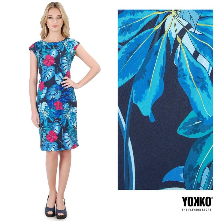 Beautiful prints reminds us of NATURE. Connected to beauty! SPRING17 | YOKKO #colors #dress #floral #prints #spring17 #nature #woman #fashion #style #yokko #leaf