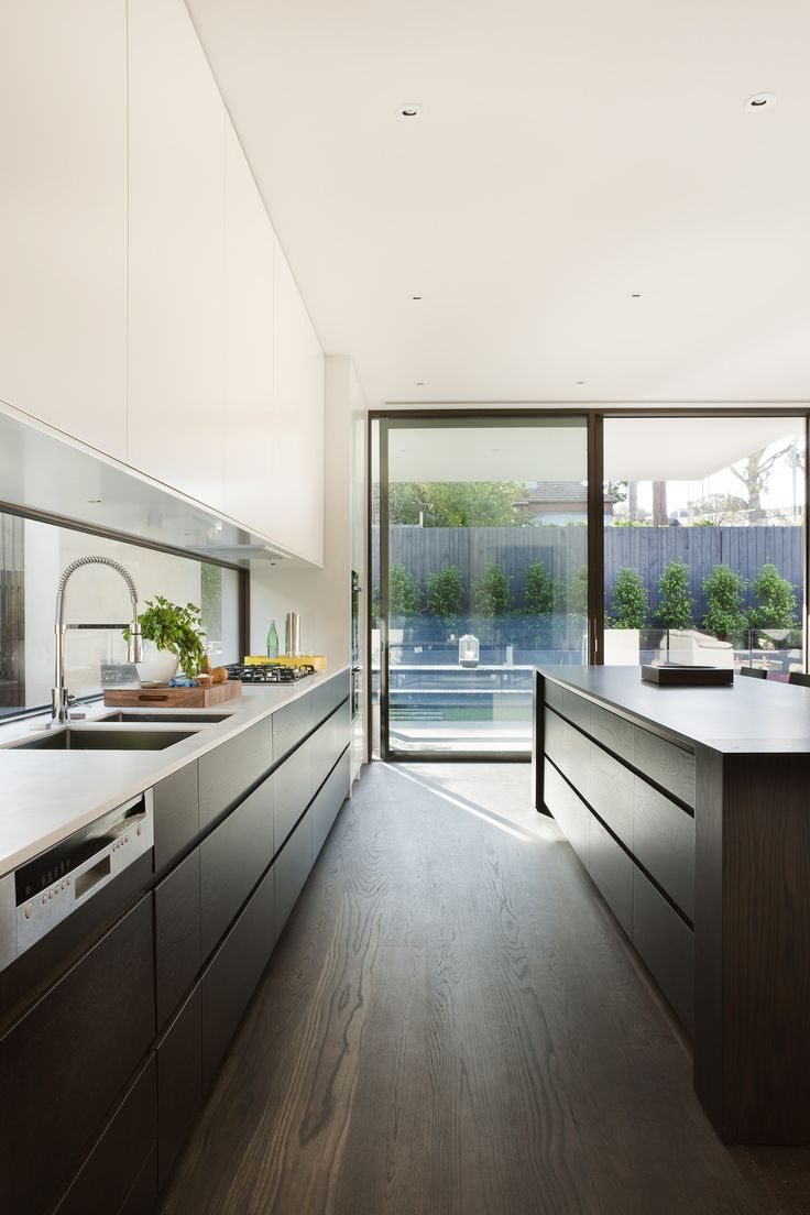Kitchen Colour Ideas but with white stone island bench top - Gallery - Malvern House / Canny Design - 25