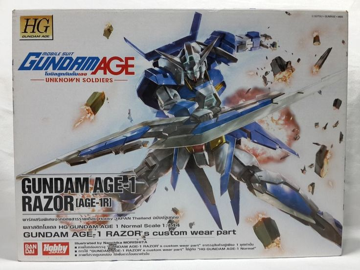 HG AGE-1R GUNDAM AGE-1 RAZOR'S CUMTOM WEAR PART BOX OPEN PARTS BAGS SEALED in Toys & Hobbies, Models & Kits, Science Fiction | eBay