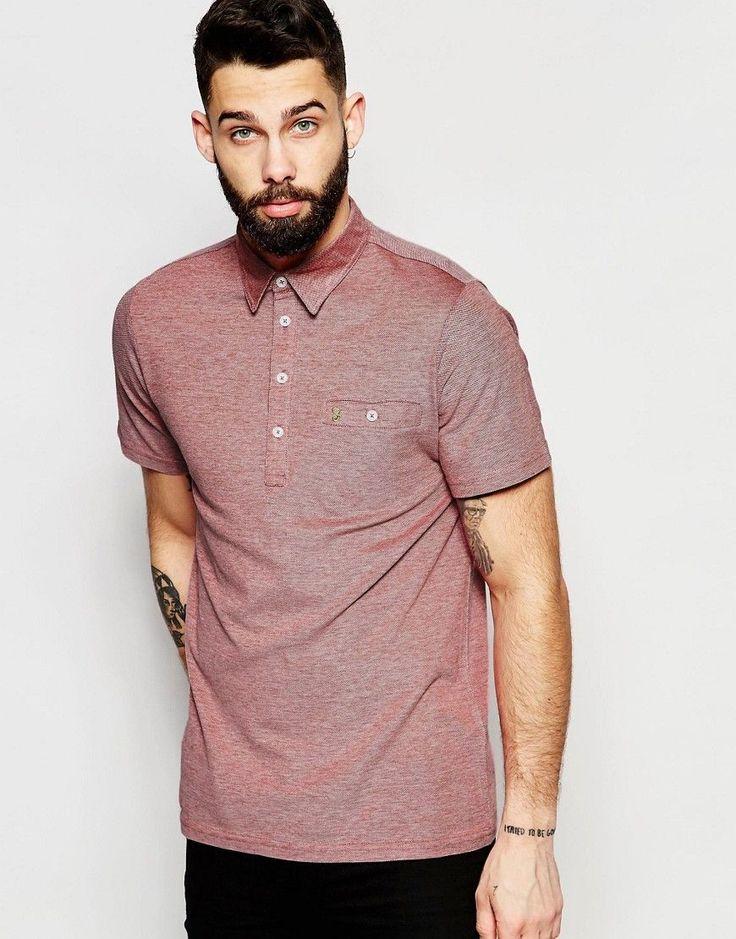 Farah Polo Shirt with Pocket - Red