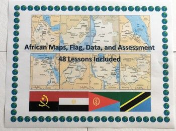 Looking to build up your students' map and data skills? This bundled activity asks your students to analyze the maps, flags, and data of the countries of Africa. Included are lessons on the following: Algeria, Angola, Benin, Burkina Faso, Botswana, Cameroon, Cabo Verde, Central African Republic, Chad, Cote D'Ivoire, Democratic Republic of the Congo, Egypt, Equatorial Guinea, Eritrea, Ethiopia, Gabon, Ghana, Guinea, Guinea-Bissau, Kenya, Lesotho, Liberia, Libya, Madagascar, Malawi, Mal...