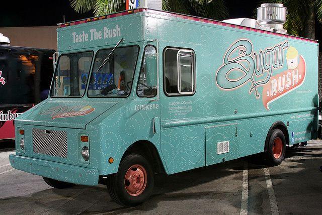 The ever-fabulous Sweetness Bakes food truck, Sugar Rush in Miami.
