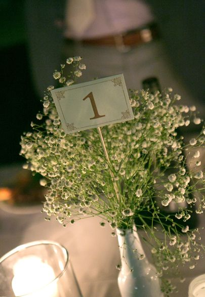 baby's breath and table number- Mitheo Events | Concept Events Styling