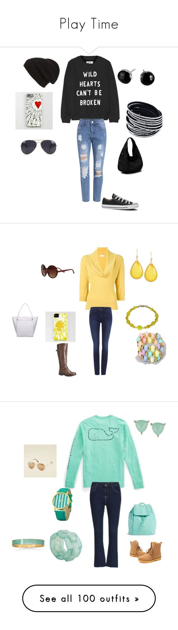 """""""Play Time"""" by hanna-debruhl on Polyvore featuring Zoe Karssen, Phase 3, NLY Accessories, Diophy, Converse, Prada, Calvin Klein, Avenue, INC International Concepts and Trio Eyewear"""