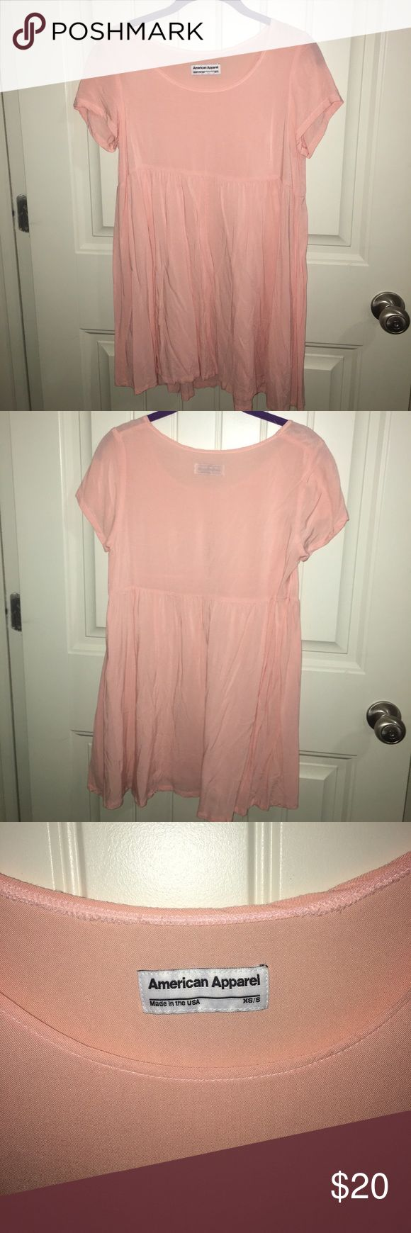 American apparel tshirt dress Light pink American apparel tshirt dress size xs/s barley worn American Apparel Dresses Mini