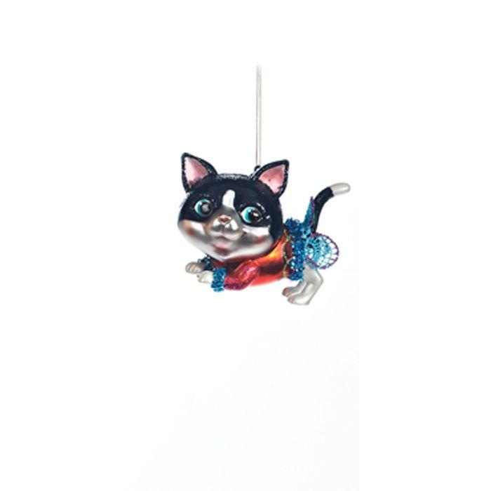 Goodwill Weihnachtsschmuck Katze verspielt Weihnachtsbaumschmuck | eBay