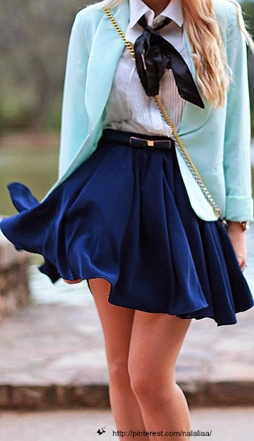 Clearly I'd want my skirt a little log, but I'm living this outfit.