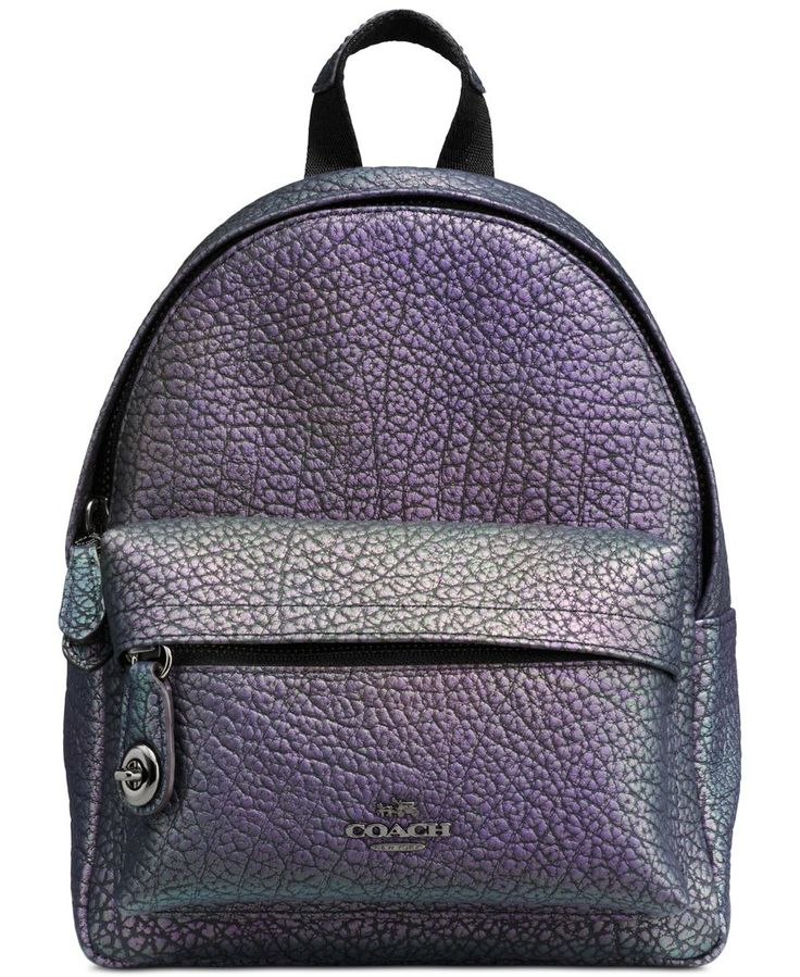 Coach Mini Campus Backpack in Hologram Leather- I've never seen a holographic leather backpack and I'm obsessed