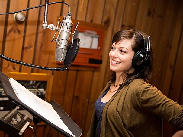 Photo 1 of 4 | Andy Karl channels Rocky Balboa in the studio. | Exclusive Photos! Rock Out in the Recording Studio with Andy Karl, Margo Seibert & the Cast of Rocky | Broadway.com
