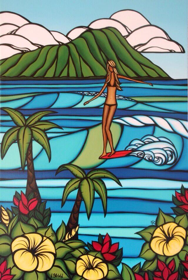 #Surf art #Heather Brown