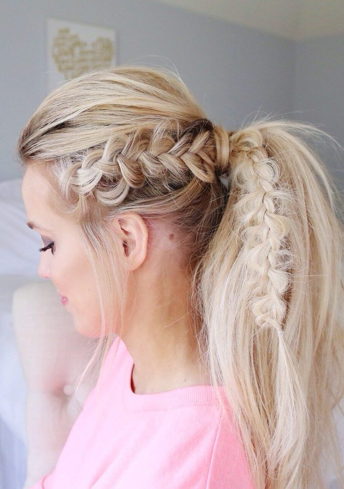 Dutch Fishtail Crown Tutorial With Images Messy Ponytail