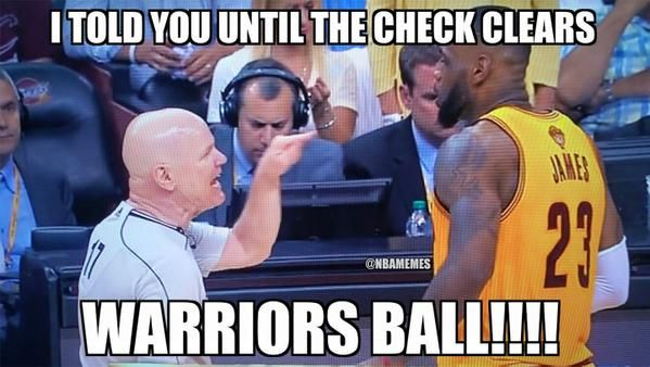 Joey Crawford right now to LeBron James. #Cavs #Warriors - http://nbafunnymeme.com/nba-memes/joey-crawford-right-now-to-lebron-james-cavs-warriors