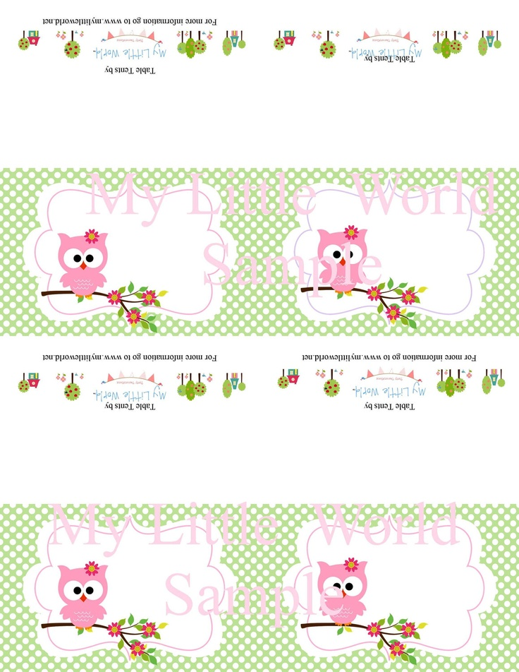 Owl Birthday Decoration Package for girls birthday or baby shower, DIY PRINTABLE you get 8 items