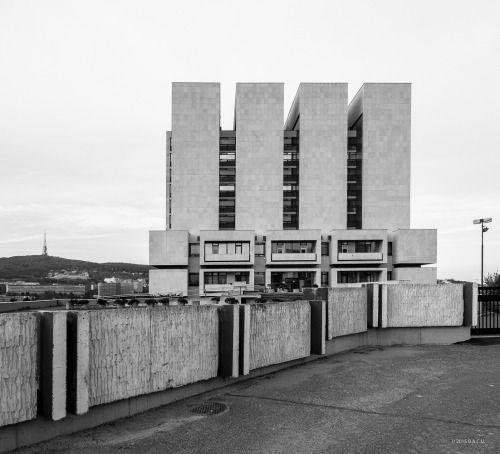 Bratislava National Archives, Bratislava, Slovakia. built (1970-1983) Architect Vladimir Dedecek