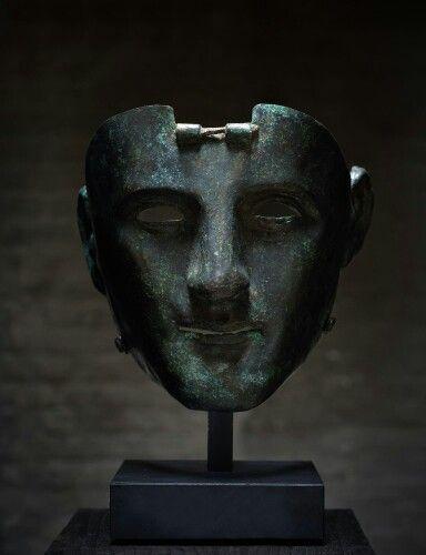 Bronze parade mask of the Nijmegen-Kops type. Western Europe. Roman Empire. 1st century A.D. | Master Art Gallery