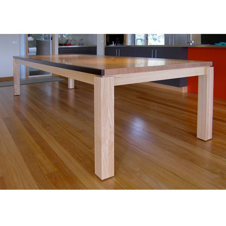 Marshal Dining Table by Anton Gerner - Solid Tasmanian Oak & Wenge