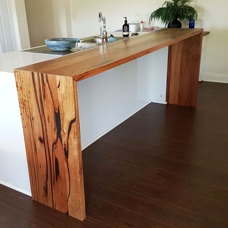 Recycled Messmate waterfall bench top for a client in Ringwood, Victoria. Always love seeing reclaimed local hardwood going back into the community.