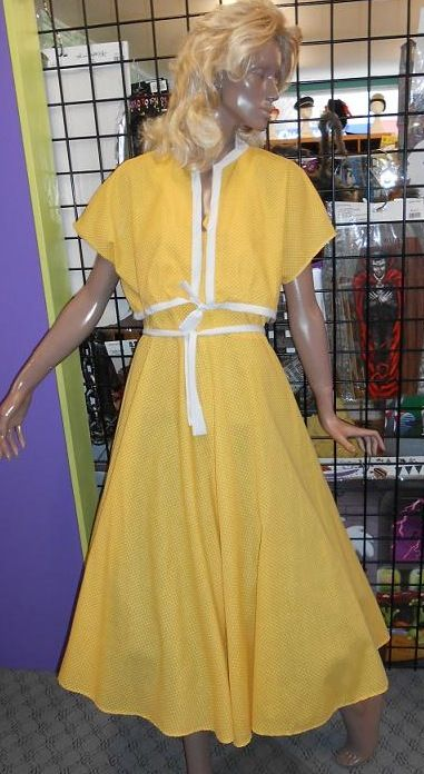 Yellow day dress with jacket