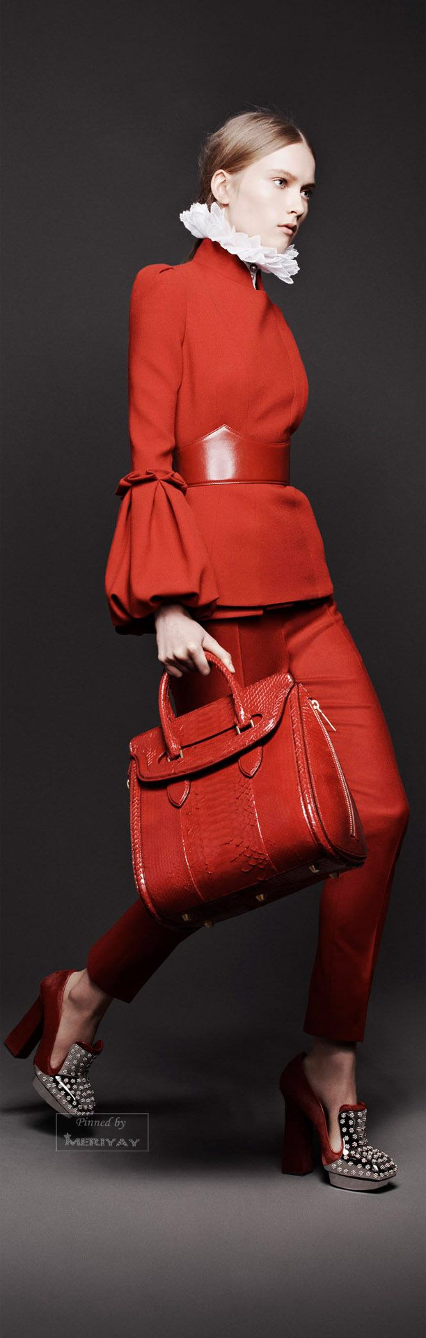Alexander McQueen - red couture - 2013 ABSOLUTELY LOVE!!!