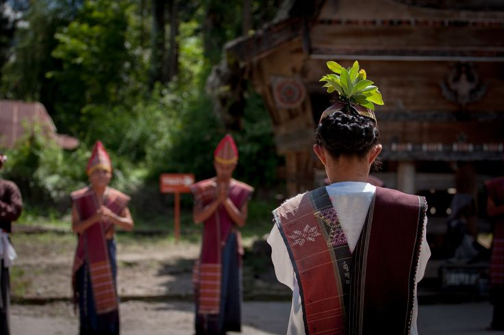 Karo Batak Dance - Dance performance of traditional Karo Batak's tribe dance, Samosir Island, Sumatra, Indonesia.