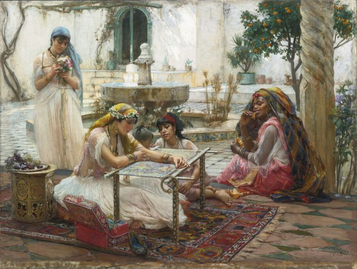monsieurleprince: Frederick Arthur Bridgman (1847 - 1928) - Dans une ville de campagne, Alger, 1888