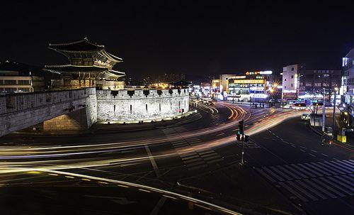 A View of Janganmun From Bukdong Jeokdae Watchtower