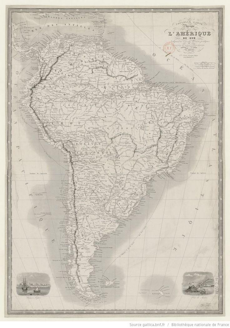 Nouvelle carte physique de l'Amérique du Sud indiquant les nouvelles divisions...